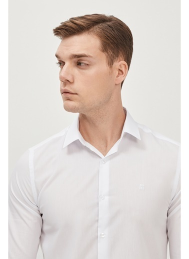 Avva Erkek Oxford Klasik Yaka Slim Fit Gömlek E002002 Beyaz